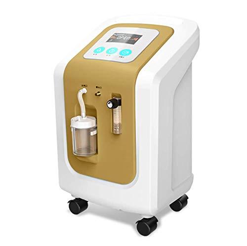 BMDHA BeatmungsgeräT Sauerstoffkonzentrator Mobil SauerstoffgeräT für Zuhause,Flow1000ML/Min, 95{e327c8f1dd84bb39c7d2744c3bee90b8613be9478d812e95727c1a1a4b81a6dd} Hochreiner Sauerstoff Mit ZerstäUbungsfunktion,Gelb