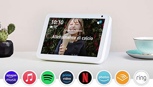 Echo Show 8 – Resta sempre in contatto con l'aiuto di Alexa - Tessuto grigio chiaro
