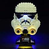 HZYM LED Beleuchtungsset Licht Set für LEGO Star Wars Stormtrooper Helm Beleuchtung Licht Set für Lego 75276 ( Nur LED Licht, Ohne LEGO Kit)