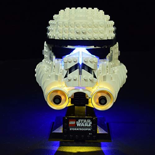 GILE Juego de iluminación LED para casco Lego Star Wars Stormtrooper compatible con Lego 75276 (sin set Lego).
