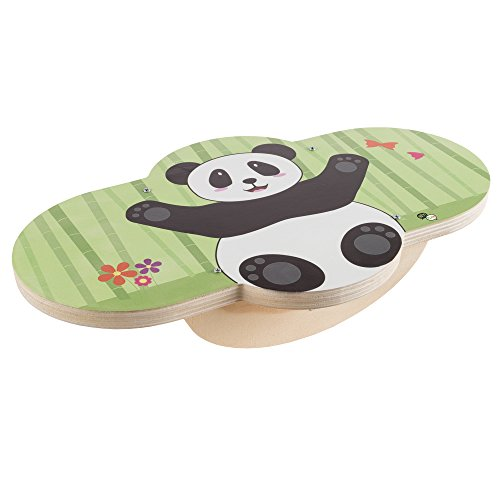 Balance Board for Kids Wooden Balancing Toy for Developing Coordination and Balance with Fun Panda Design for Boys and Girls By Hey Play