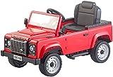 Playtastic Tretauto: Kinderauto mit Land-Rover-Lizenz, Tretpedalen und Eva-Rädern, rot...