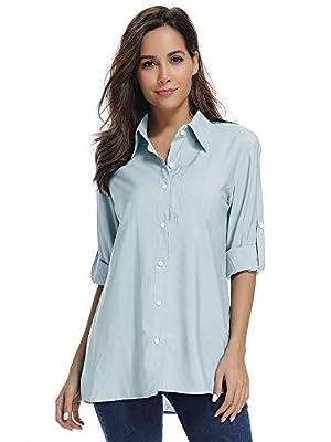 Women's Fishing Hiking Shirts Quick Dry UPF 50+ UV Sun Protection Rash Guard Long Sleeve Shirts