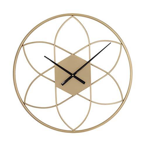 MQQ Relojes De Pared De Hierro Forjado Simples Nordic Modern Cuarzo Reloj De La Sala De Estar Dormitorio Oficina Ambiente Petal Art Creativo Hierro Forjado Relojes De Pared (Color : 50cm)