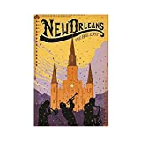 Vintage New Orleans Tratel Poster Leinwand Poster Wandkunst