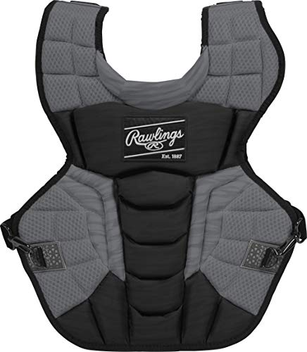Rawlings Velo 2.0 Adult NOCSAE Baseball Catcher's Chest Protector, Black and Graphite