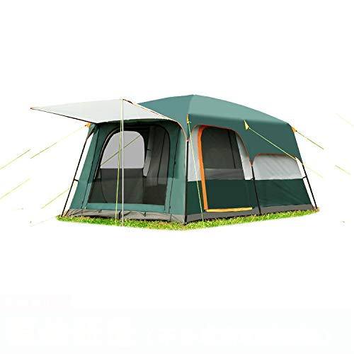 Mdsfe Outdoor 5-8persons double layer outdoor 2living rooms and 1hall family camping tent in large space tent-A6