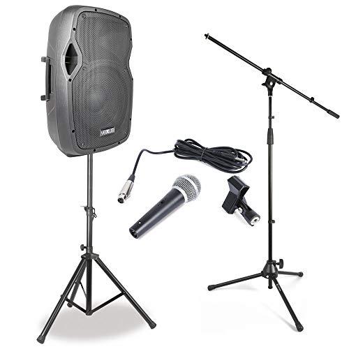 Vonyx Singer Songwriter Set II met Speaker en Microfoon met Standaard