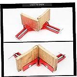 Marco 1pc de ángulo Recto de 90 Grados Abrazadera Abrazadera Abrazadera de la carpintería Mitre Imagen Kit Framing Vise Holder
