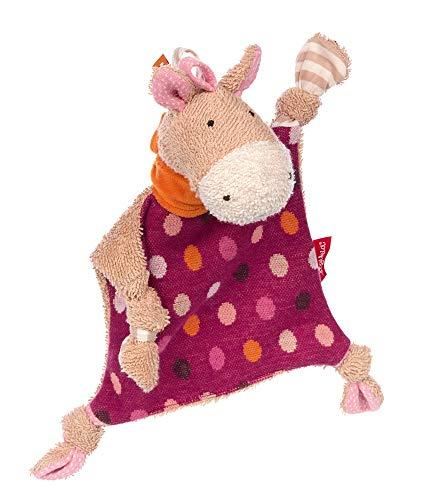 Sigikid Mädchen und Jungen, Schnuffeltuch Hoppe Dot, Babyspielzeug, empfohlen ab 0 Monaten, Lila/beige, 39249