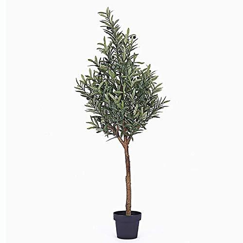 AXAA Künstliche Bäume Fake Tree Olivenbaum Simulation Topfpflanzen, Wohnzimmer Innenbodendekoration Grüne Pflanze Bonsai Ornamente, 1,7 m