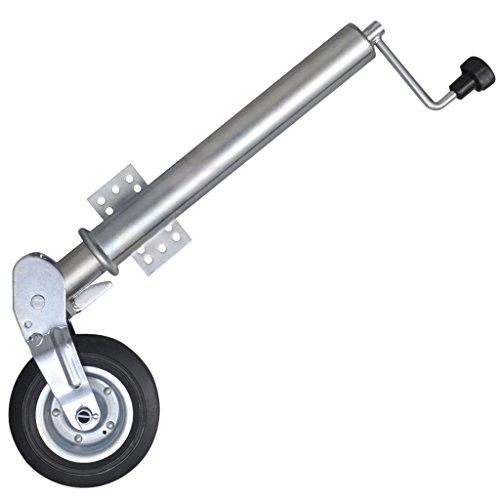 Festnight Klappbar 60 mm Schwerlast Stützrad Anhänger-Stützrad aus Verzinkter Stahl Max. Belastung 400 kg