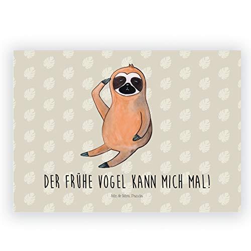 Mr. & Mrs. Panda Radiergummi Faultier Vogel Zeigen - Faultier, Faultiere, faul, Lieblingstier, Spinner, früher Vogel, der frühe Vogel, Frühaufsteher, Morgenmuffel Radiergummi, Radierer