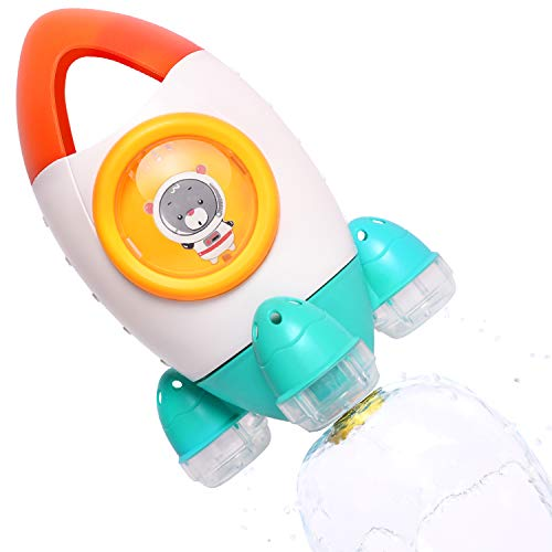 iPlay, iLearn Baby Bath Toy, Fun Bath Time Tub Toy, Spray Water Bathtub Toy, Space Rocket Fountain Shower Toys, Gift for 18 Months, 2, 3, 4, 5 Year Olds Infants Toddlers Boys Girls Kids Children