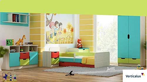 Ensemble de 6 meubles pour enfant Winnie l'Ourson avec lit - Créez une chambre de rêve pour votre enfant