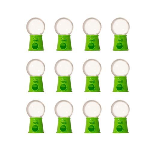 Toddmomy 12 Piezas para Niños Máquina Dispensadora de Caramelos Juguetes Mini Máquina Dispensadora de Gominolas Goma de Mascar Mini Dispensador de Dulces para Fiestas de Pascua Verde