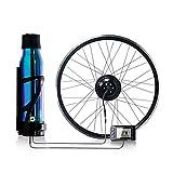 HYYK Kit Electrico Bicicleta 36V 350W con LED Controlador, Kit de Conversión de Bicicleta para Rueda Trasera DIY Electric Bike Conversion Kit para neumáticos de 16