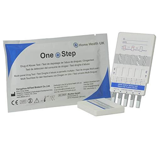 Pack de 5 Paneles para detección de 10 drogas en orina