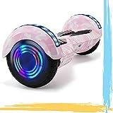 HappyBoard 8' Hoverboard Patinetes Eléctricos Autoburación Motor 700W Bluetooth para Niños y Adultos (Rosa Camuflaje)