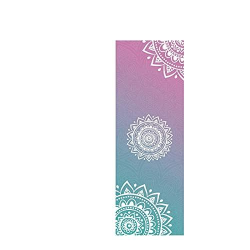 TASJS 183 cm * 61cm * 1mm de Yoga Antideslizante Toalla de Yoga alfombras de Yoga Absorbente de Sudor Yoga portátil Yoga Mate Toalla Gimnasio Gimnasio Deportes Accesorios (Color : 1)