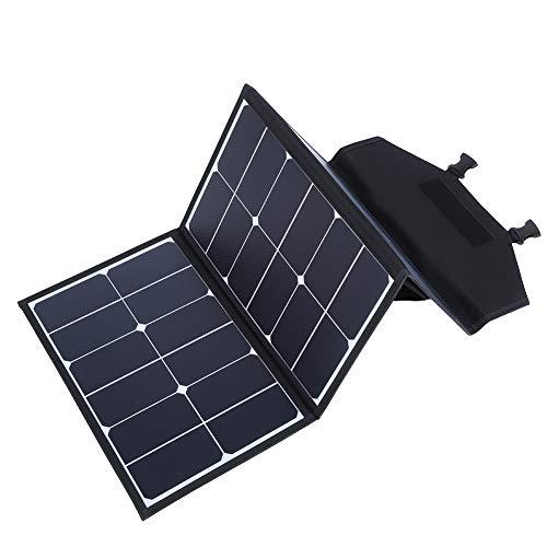 Cargador Solar portátil de 90 W, Panel Solar Plegable o Tableta para iPhone, cámara para computadora portátil, teléfono Celular, GPS, Acampada al Aire Libre, Coche, Carga rápida