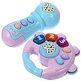 Toddmomy 2Pcs Baby- Musical Spielzeug Beleuchtung Taste Spielzeug Rassel Spielzeug Schütteln Hand...