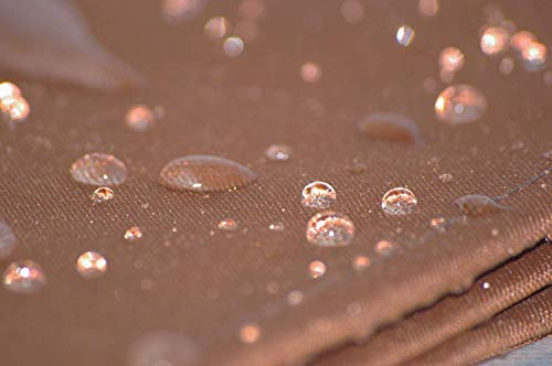 habeig Ersatzdach PVC Beschichtung Pavillondach Wasserdicht Pavillon knapp 3x3m NEU (Braun)