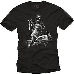 Chica con Casco Jet - Camisetas Originales Hombre con Moto