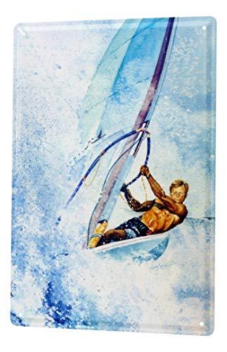 LEotiE SINCE 2004 H. L. Koehler Blechschild Nostalgie Windsurfer Metall Wand Deko Schild 20X30 cm