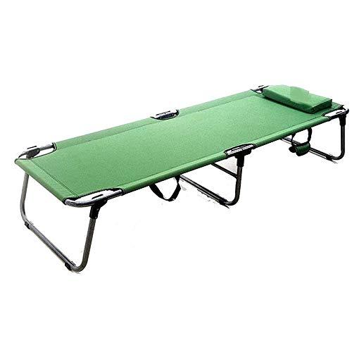 AI LI WEI Home Outdoor/Lit Pliant Simple Camp Lit Simple Installation Recliner Gratuit Portable Vert (Color : Green)