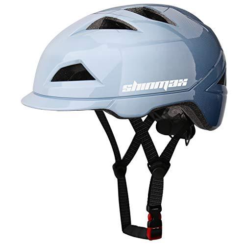 Shinmax Casco Bicicleta Adulto,Casco Bicicleta con Luz Trasera LED,Certificación CE,Ajustable Casco Montaña Road Motocicleta Bicicleta,Casco Bicicleta Mujer,Casco Bicicleta Adulto Montaña 57-62 CM