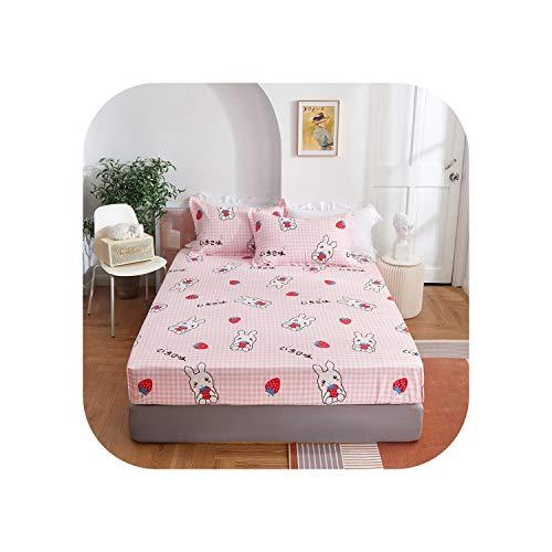 Star Harbor Baumwollbett Set |2020 1 Stück Baumwolldruck Bettmatratze Set mit Vier Ecken und Gummibändern-xingyuntufen-90X200X25cm