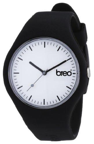 Breo B-TI-CLC7 - Reloj analógico Unisex con Correa de Caucho, Color Negro