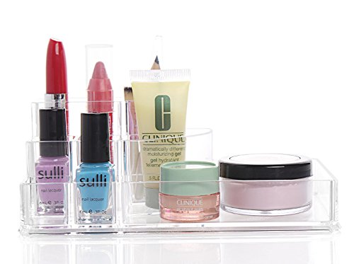 E-Meoly Multifunktionaler Acryl-Organizer, Kosmetik-Aufbewahrung, Lippenstift-Display, Nagellack-Display, Top-Qualität, Kosmetik-Organizer, Schreibtisch-Aufbewahrung