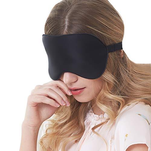 Sleep Masks Eye MaskNatural Mulberry Silk Sleep Mask Soft Blindfold Smooth Eye Mask Sleeping Aid Eyeshade Eye Cover Patch Bandage Comfort