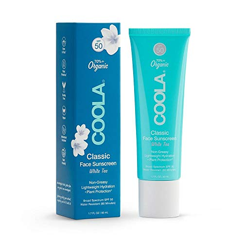 COOLA Organic Classic Daily Face Sunscreen, Broad Spectrum SPF 50, Reef-Safe, Sheer Finish, 1.7 Fl Oz