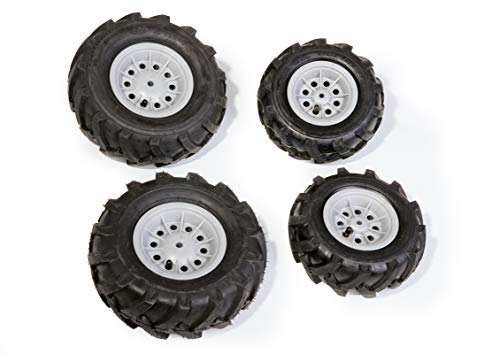 Rolly Toys 40 984 6 rollyTrac Air Tyres Luftbereifung (für RollyToys Fahrzeuge, Felge silber, Größen: 2x 325x110 / 2x 260x95) 409846