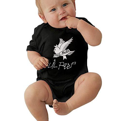 Tengyuntong Lil Peep Crybaby - Body para bebé, diseño estampado de Onesies, color negro