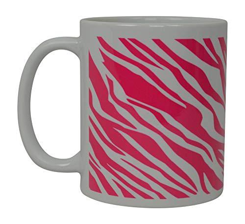 La mejor taza de café con estampado de cebra rosa, taza novedosa de la selva africana, gran idea de regalo para mujeres, niñas, diva, empleado, jefe, compañeros de trabajo