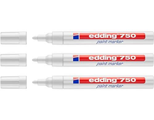 Edding 750 Marcador de pintura 3er Paquete de ahorro 9 FARBEN & SURTIDOS A ELEGIR - blanco, 3er Set