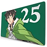 Ye Hua Extra Large Mouse Pad -The Rising of The Shield Hero Twenty Five Naofumi Desk Mousepad - 15.8x29.5in (3mm Thick)- XL Protective Keyboard Desk Mouse Mat for Computer/Laptop