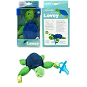 Dr. Brown's - Turtle Lovey with Blue One-Piece Pacifier - Green/Blue