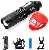 Maketheone Bicycle Helmet Light, Mountain Bike Headlight-Tail Light kit, MTB...