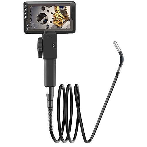 GRUNDIG 180° Lenkkamera Drahtloses Endoskop,4,5 Zoll Display Drahtlose Endoskop-Inspektionskamera mit 6 LED Leuchten,6000 mAh Schlangeninspektionskamera für die Automobilindustrie für iOS und Android