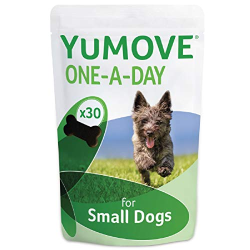 Lintbells | YuMOVE ONE-A-DAY Small Chewies For Dogs | Essential Hip and Joint Supplement for Stiff Dogs | 30 Chews - 1 Month supply