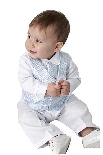 V.C. Baby Jungen Taufanzug 4tlg. blau Babyanzug (74)