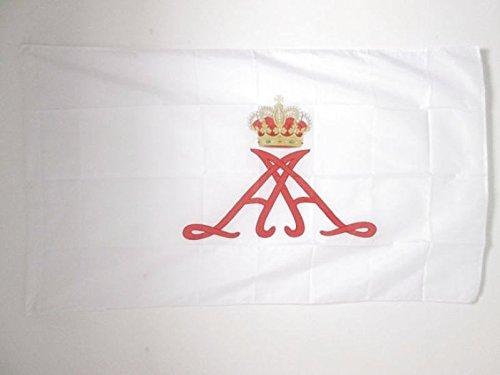 AZ FLAG Flagge STANDARTE des FÜRSTEN Albert II VON Monaco 150x90cm - FÜRSTENTUM Monaco Fahne 90 x 150 cm Scheide für Mast - flaggen Top Qualität