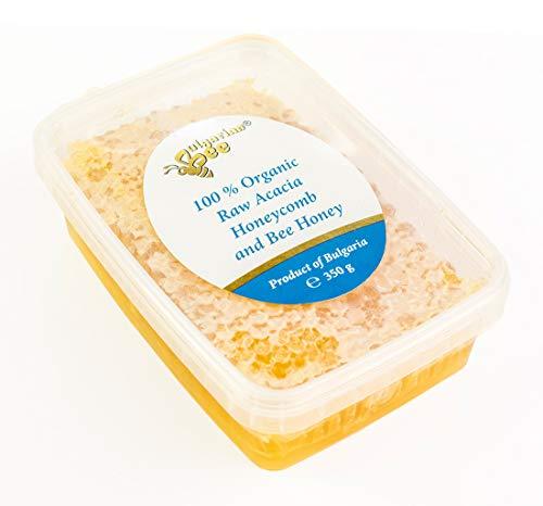 350 g Bio Nid d'Abeille au Miel d'Acacia Cru, Naturel, Pur, Frais directement de la ruche, produit absolument réel.