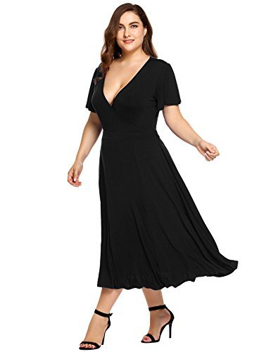 Plus Size Women's Midi Swing Bridesmaid Dresses Vintage Casual Evening Cocktail Party Outfit Club Dresses