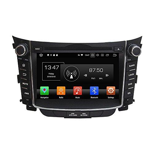 Android 9.0 Octa Core Autoradio Radio DVD GPS Navigation Multimedia-Player Auto Stereo für HYUNDAI I30 2011 2012 2013 2014 unterstützt Lenkradsteuerungs mit 3G Wifi Bluetooth frei 8G SD-Karte Zollfrei